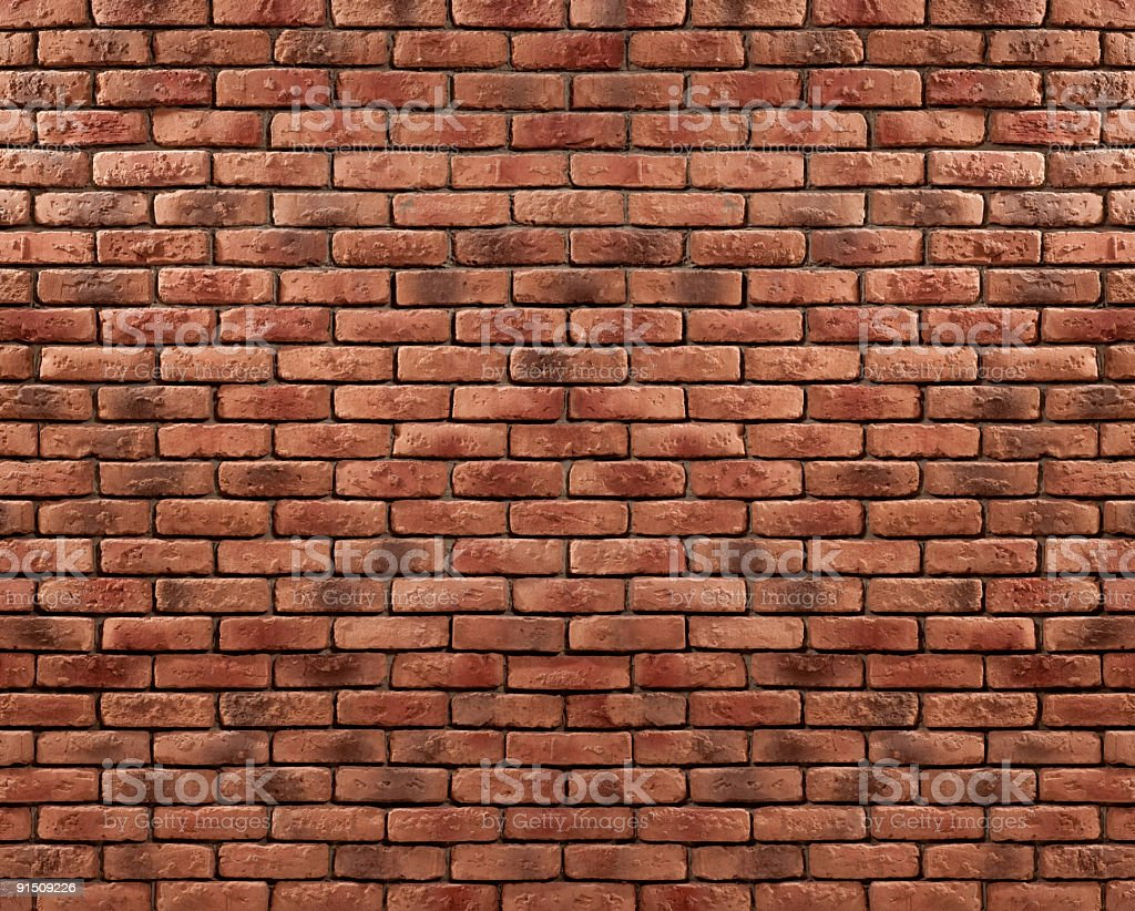 Red brick wall as background. stock photo