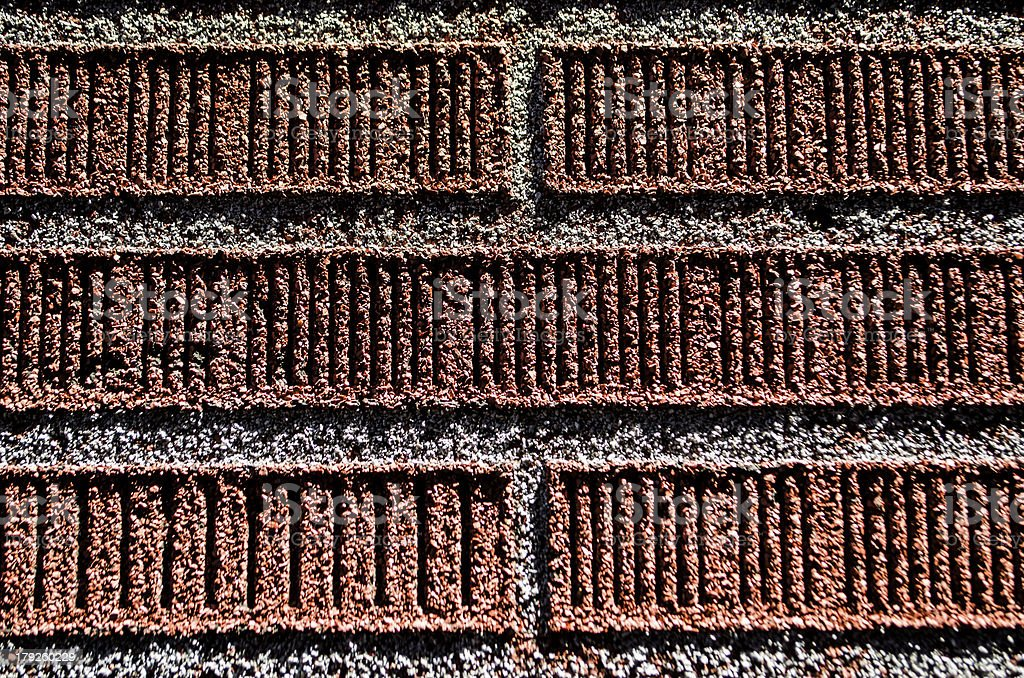 red brick wall detail royalty-free stock photo