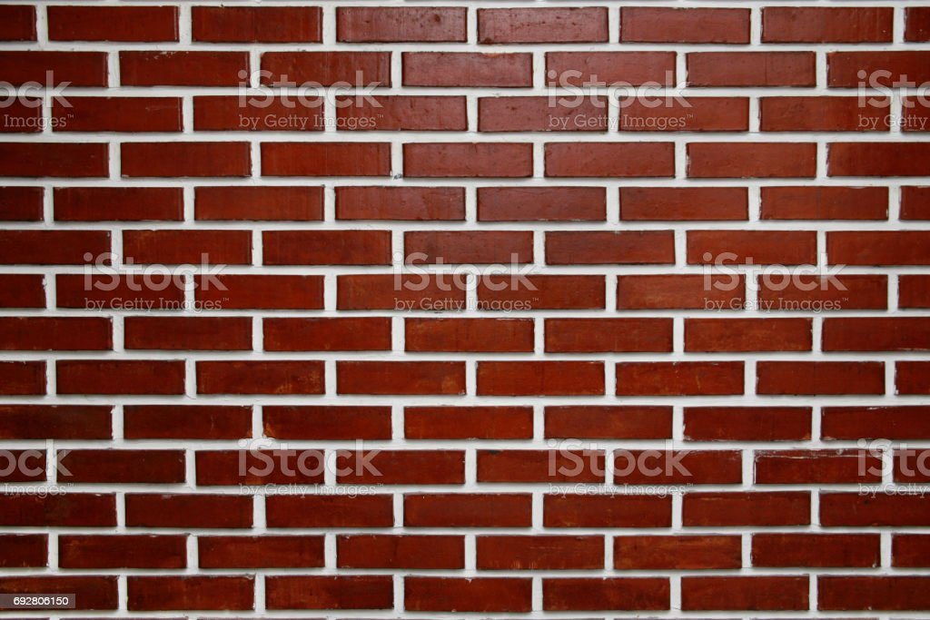 Red brick wall for backgrounds or wallpaper stock photo