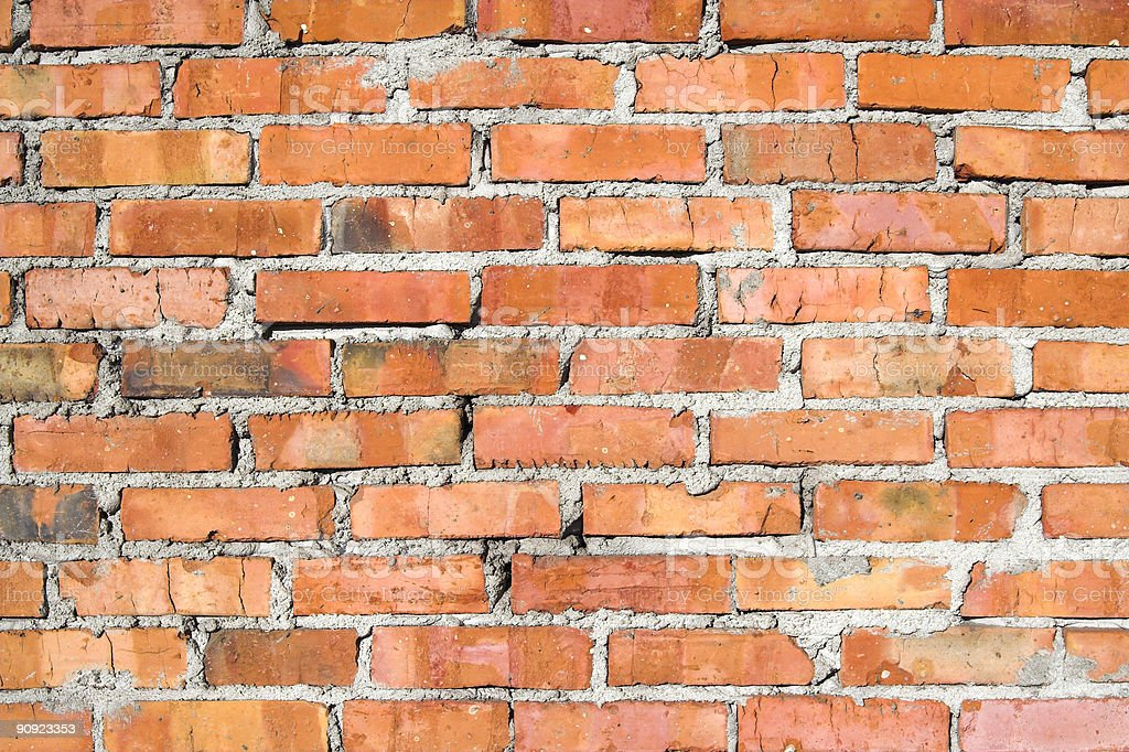 Red Brick Wall II royalty-free stock photo