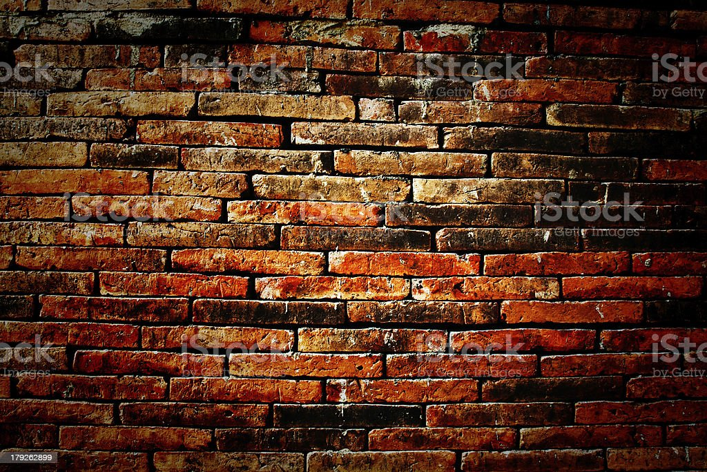 red brick wall royalty-free stock photo
