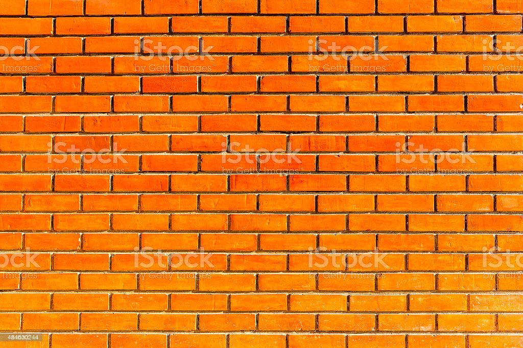 Red brick wall texture background. stock photo