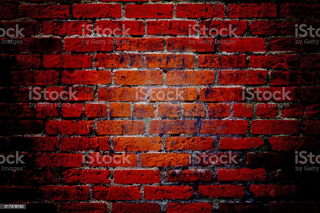 Red Brick Wall Texture Background stock photo