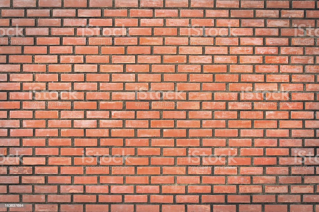 red brick wall texture in horizontal view royalty-free stock photo