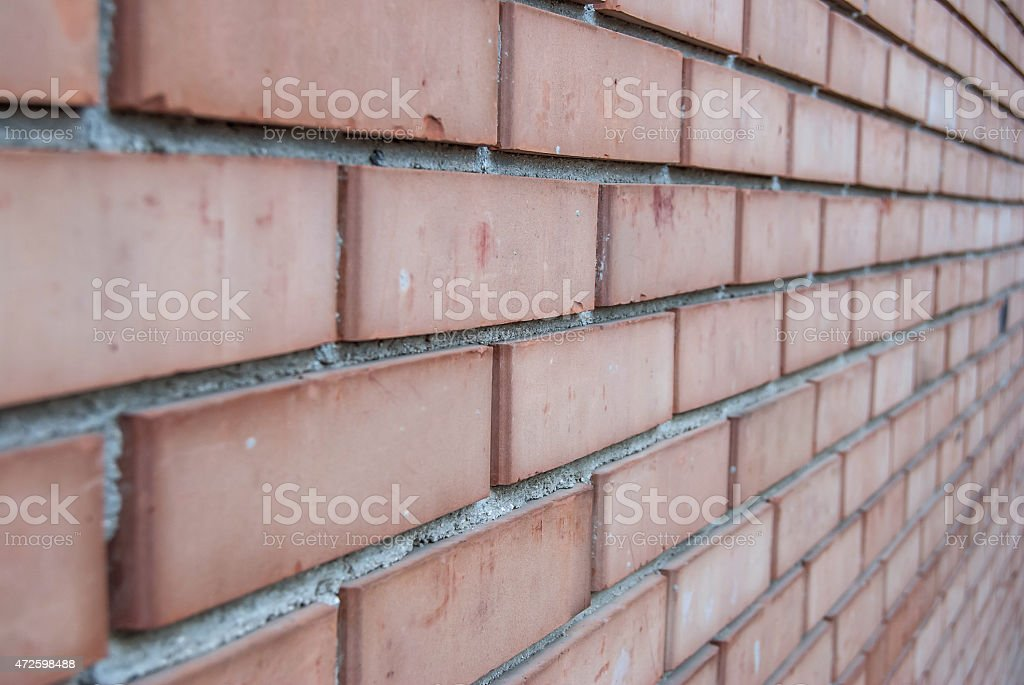 red brick wall texture stock photo