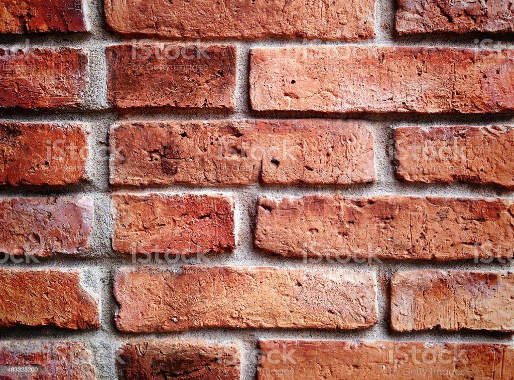 Czerwona Cegła Mur tekstura płótna zbiór zdjęć royalty-free