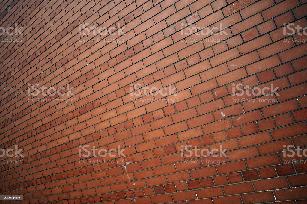 Red brick wall wide angle background royalty-free stock photo