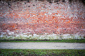 Red Brick Wall With Path