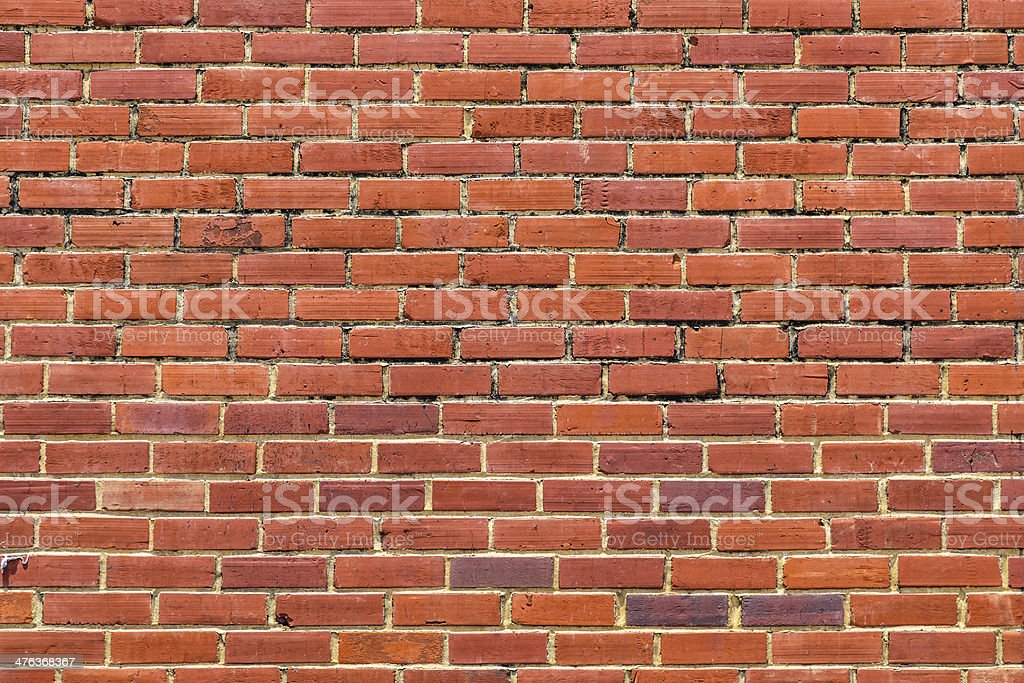 Red bricks wall as background front view closeup royalty-free stock photo