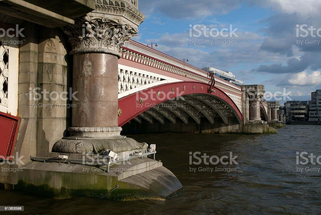 Red Bridge in London royalty-free stock photo