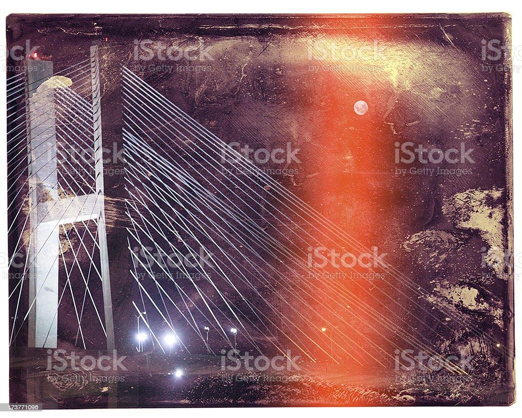 Red Bridge Moon stock photo