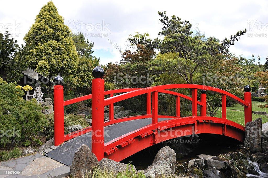 Red Bridge royalty-free stock photo