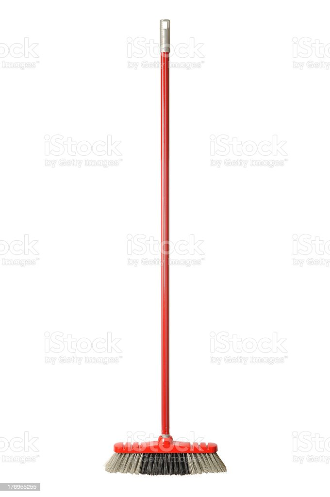 Red Broom stock photo