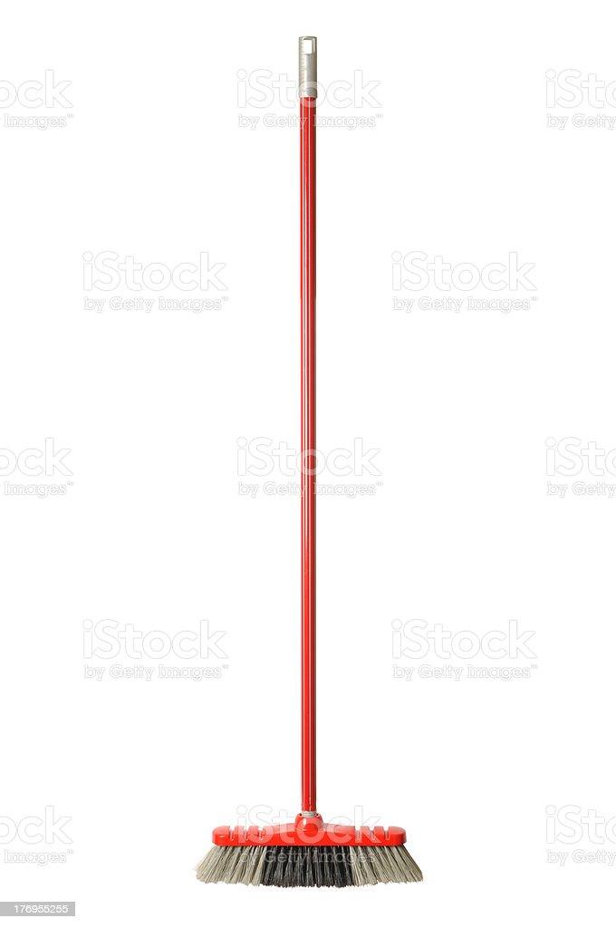 Red Broom stock photo