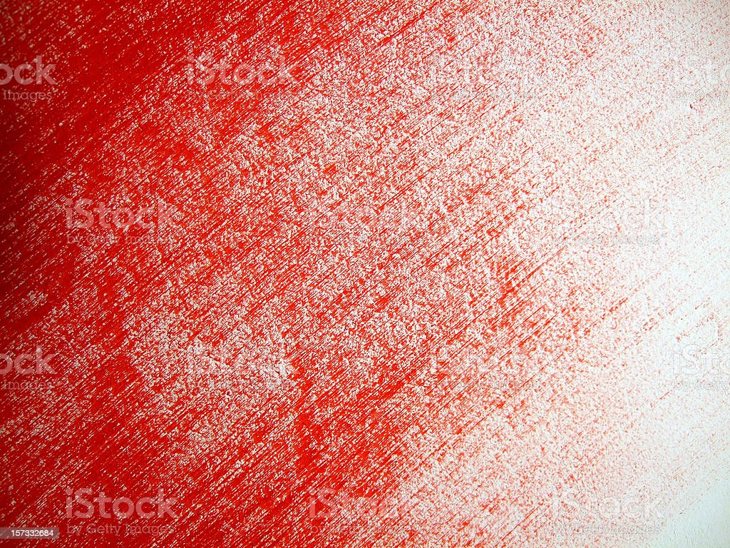 Red brush strokes on a white canvas stock photo