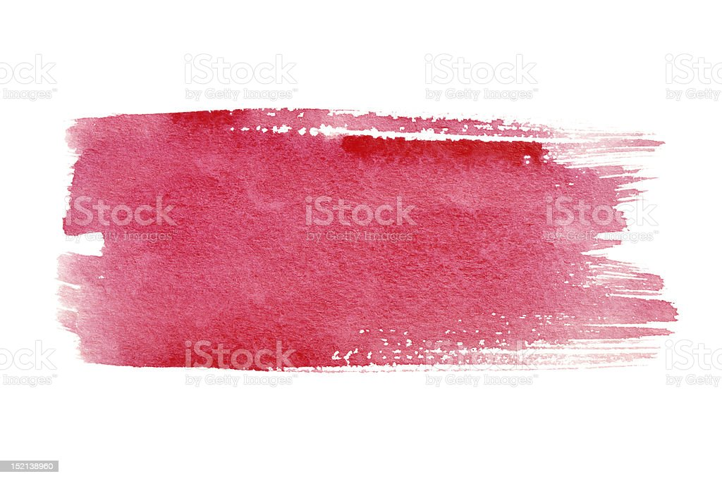 Red brush strokes stock photo