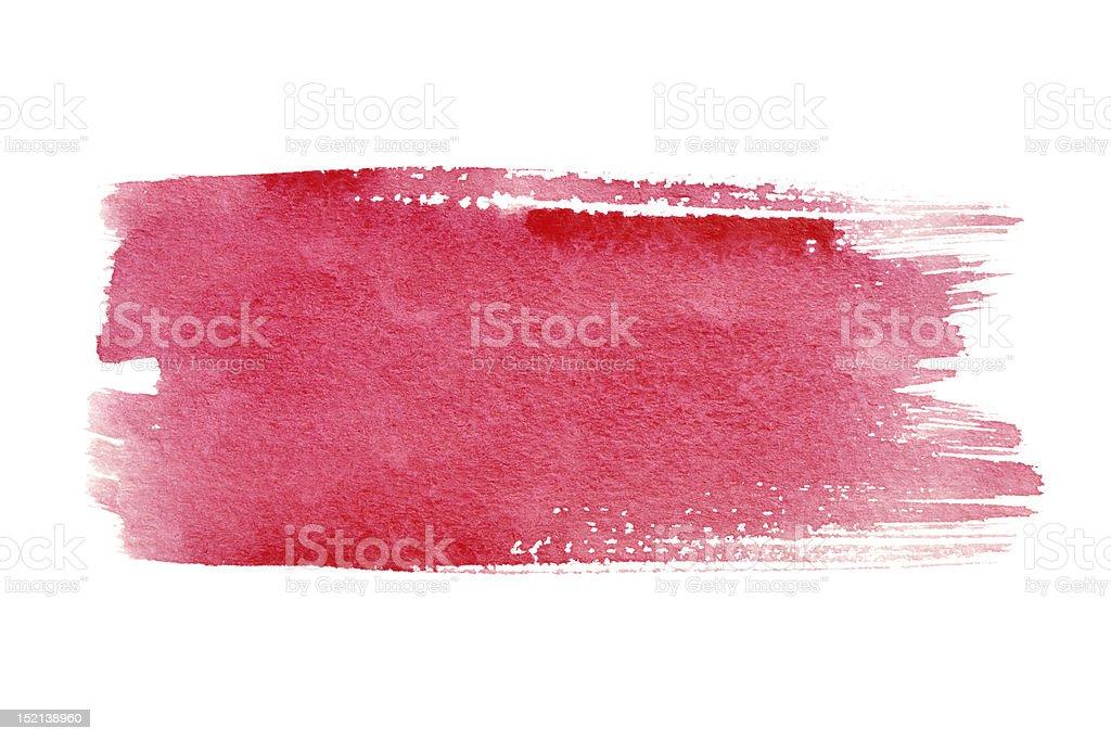 Red brush strokes stock photo