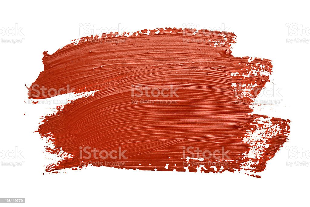 Curved Oil Paint Brush Strokes Isolated Stock Photo - Image: 48654183
