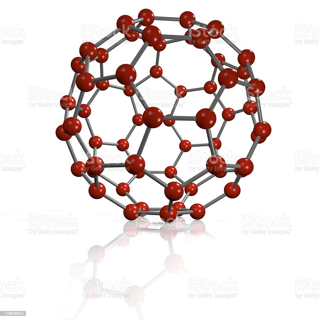 Red buckyball stock photo