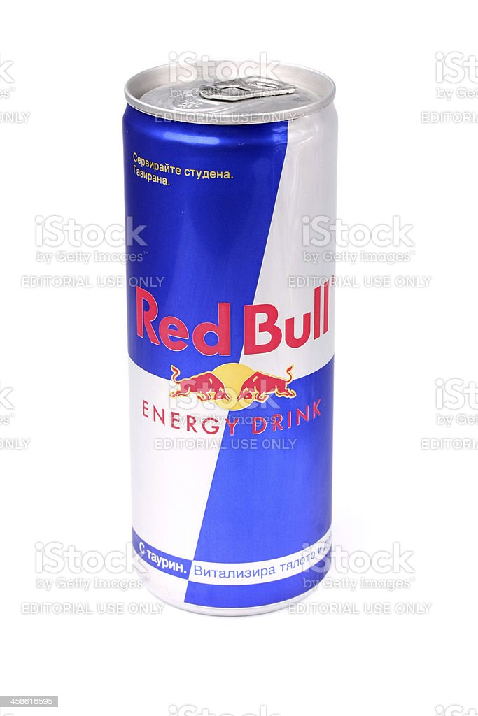 Red Bull Can stock photo