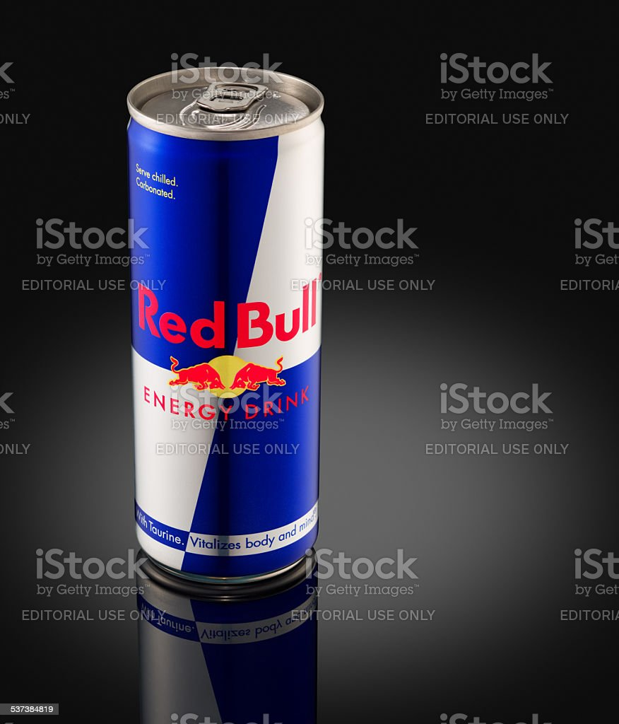 Red Bull is the world's highest selling energy drink stock photo