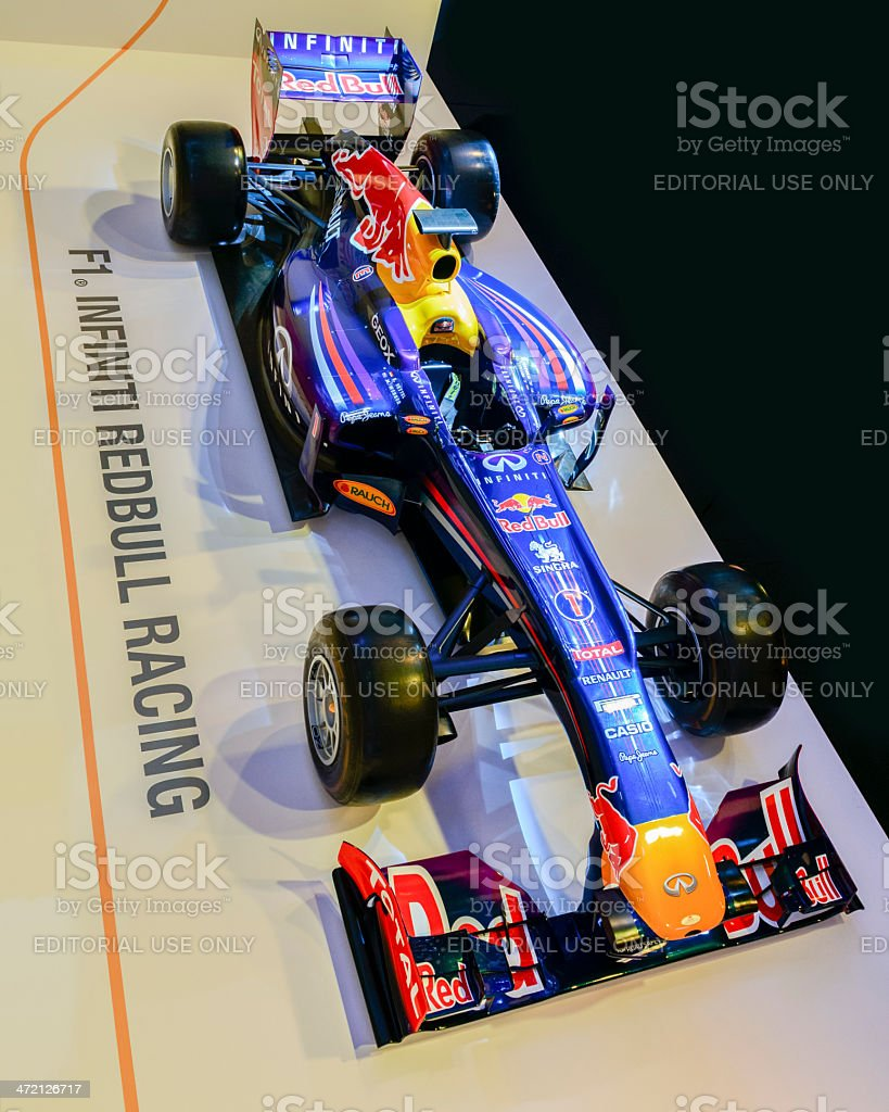 Red Bull Racing F1 race car stock photo