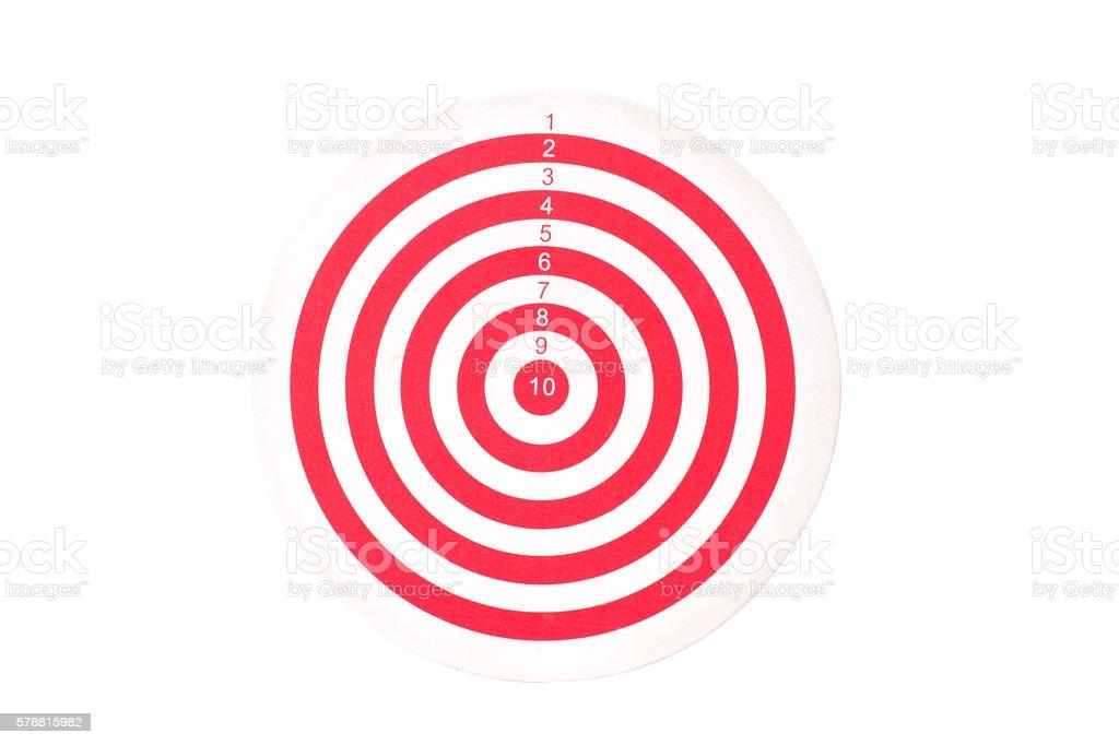 red bullseye stock photo