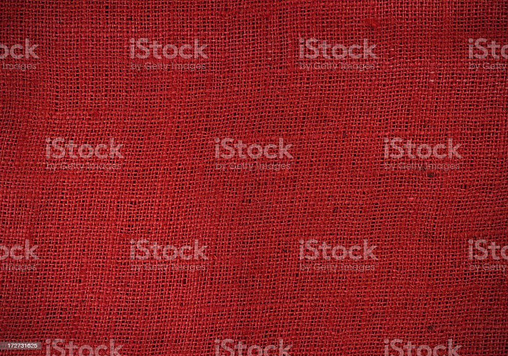 Red burlap texture royalty-free stock photo