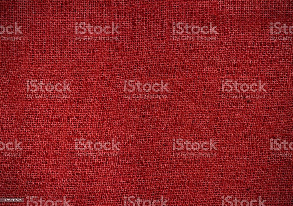 Red burlap texture stock photo