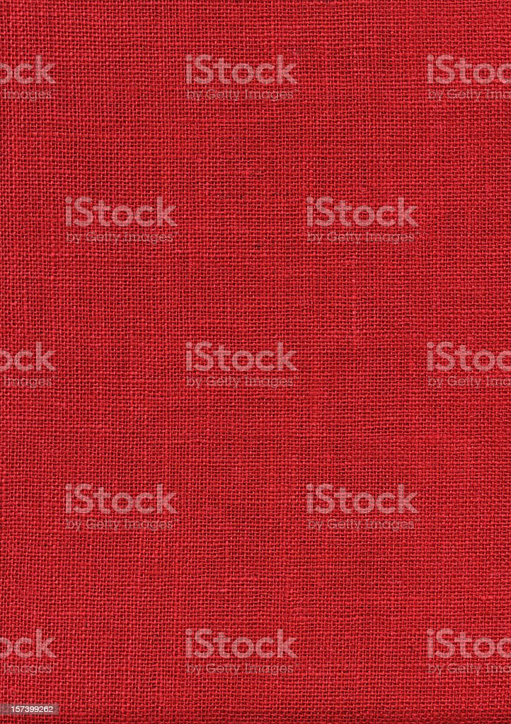 Red Burlap XXXL royalty-free stock photo