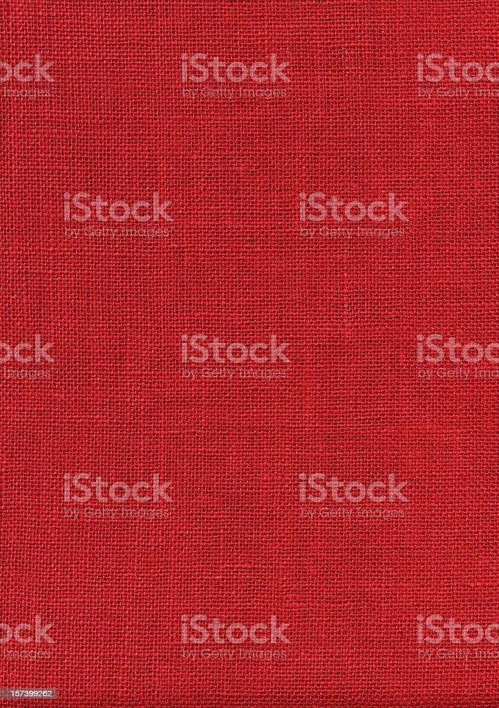 Red Burlap XXXL stock photo