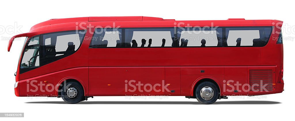 Red bus stock photo