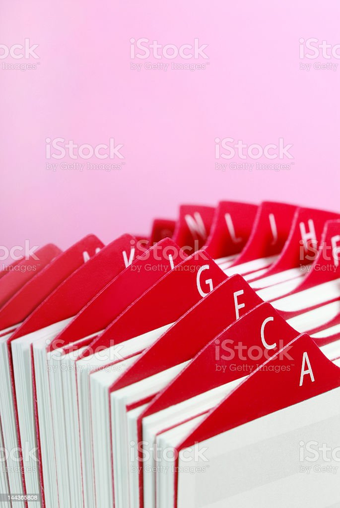 Red Business Card Holder stock photo