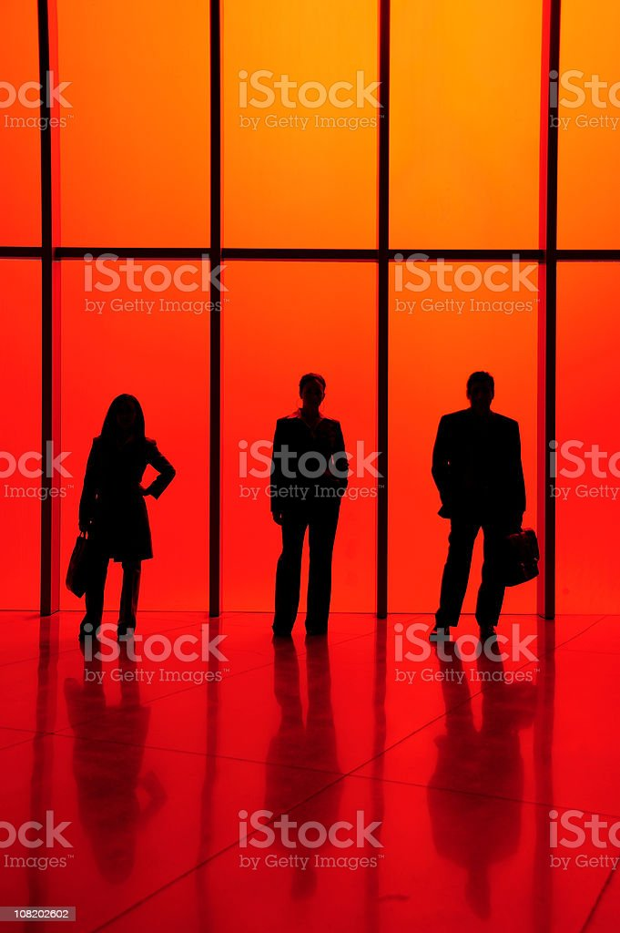 Red Business Silhouettes royalty-free stock photo