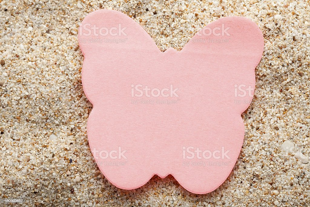 Red butterfly stock photo