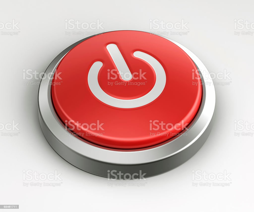 Red button - On Off royalty-free stock photo
