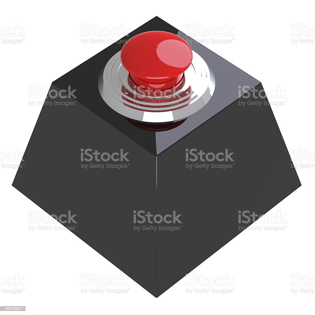 Red Button on The Black Box stock photo