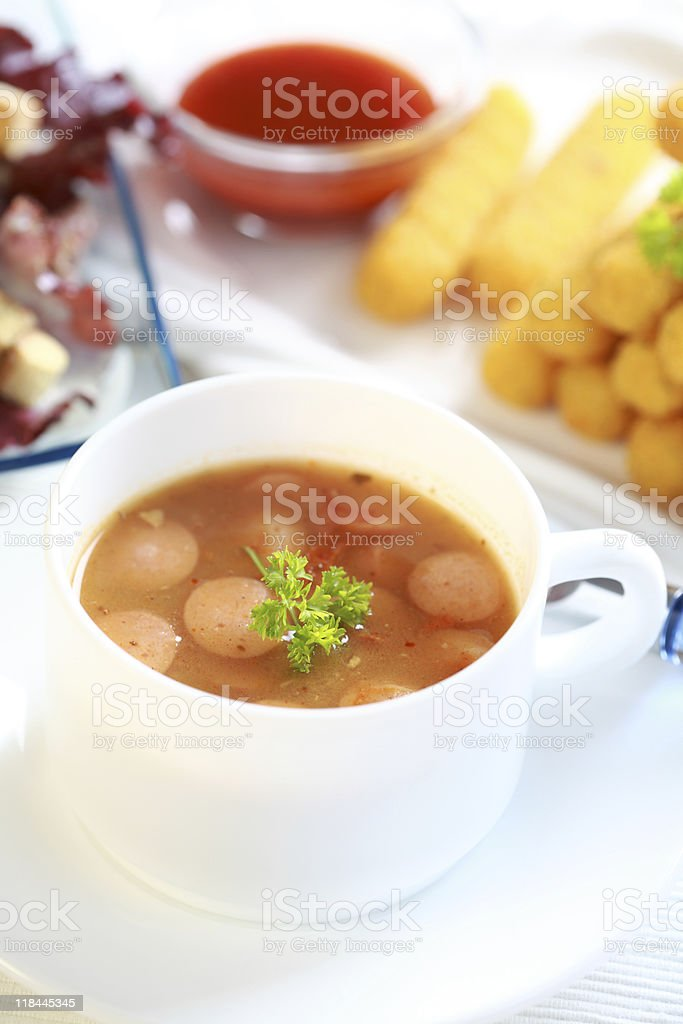 Red cabbage soup royalty-free stock photo