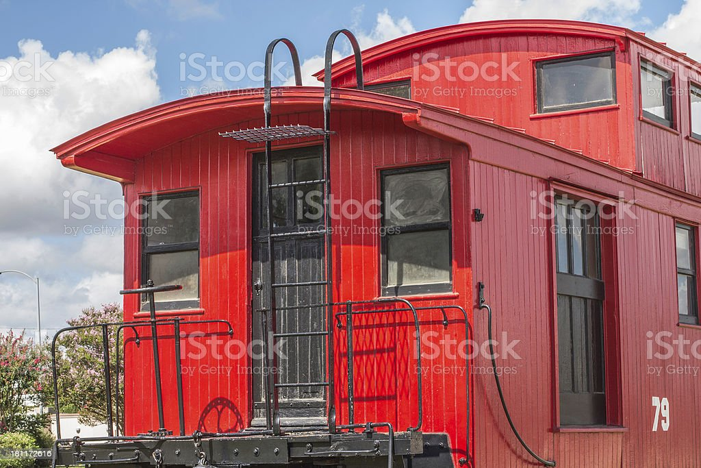 Red Caboose stock photo