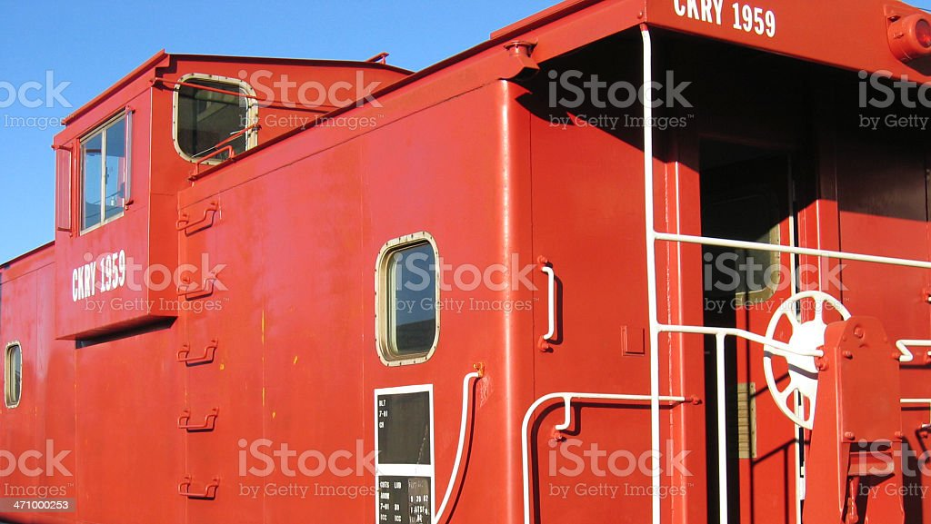 Red Caboose royalty-free stock photo