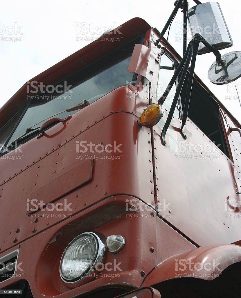 Red Cabover stock photo