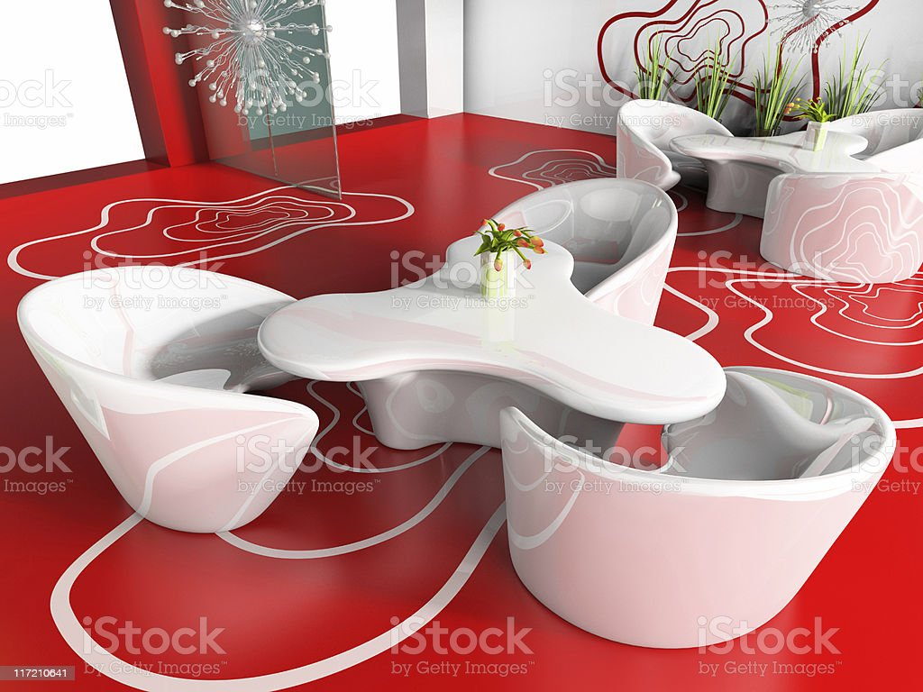 red cafe royalty-free stock photo
