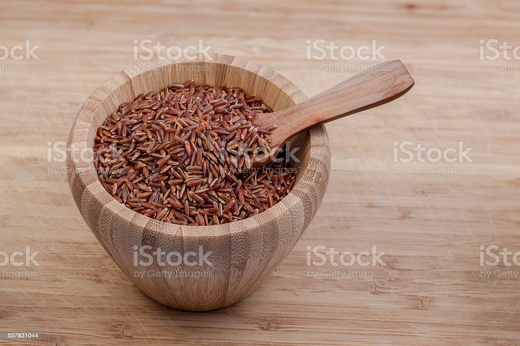 red Camargue rice stock photo