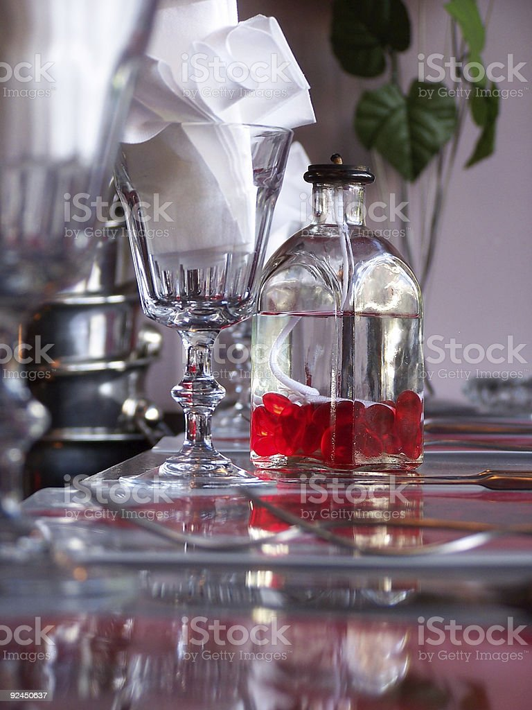 Red & Candle Oil royalty-free stock photo