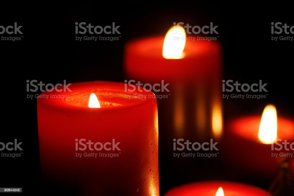 red candles royalty-free stock photo