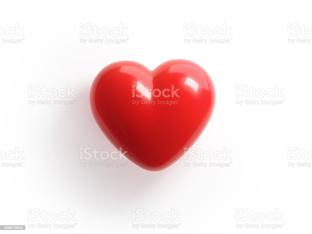 Red Candy Heart on White Background stock photo