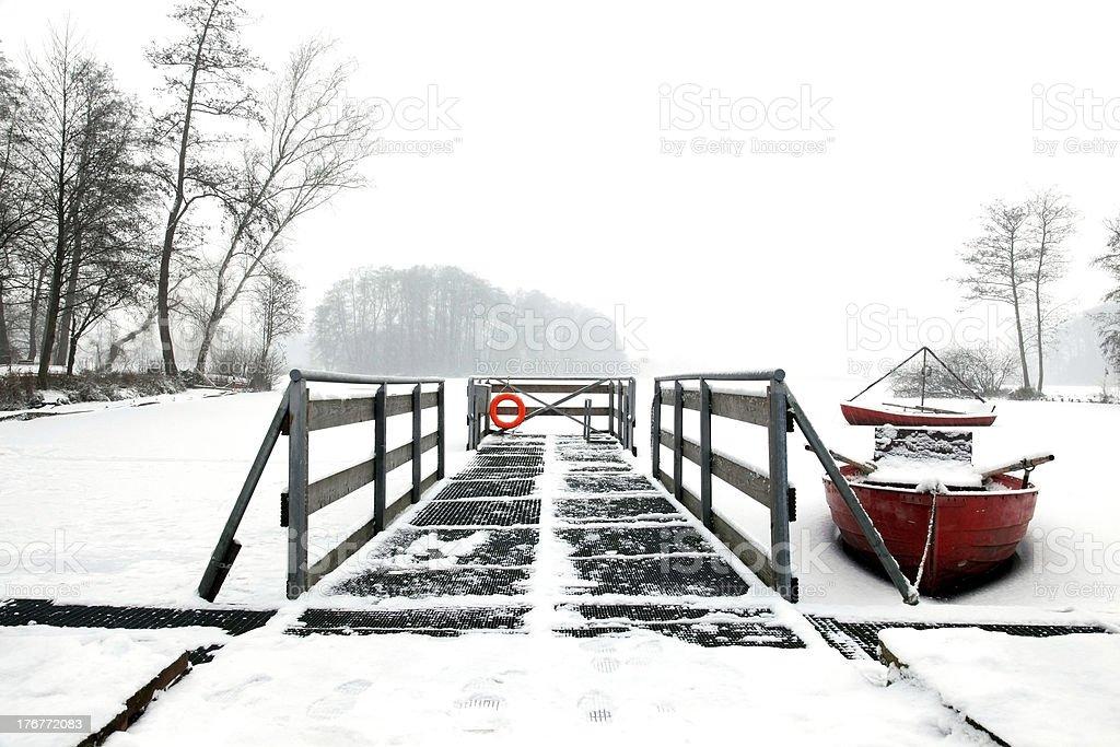 red canoe stock photo