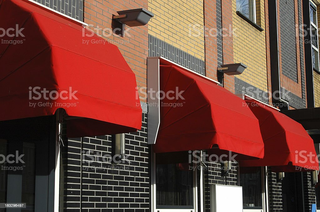 Red canopies royalty-free stock photo
