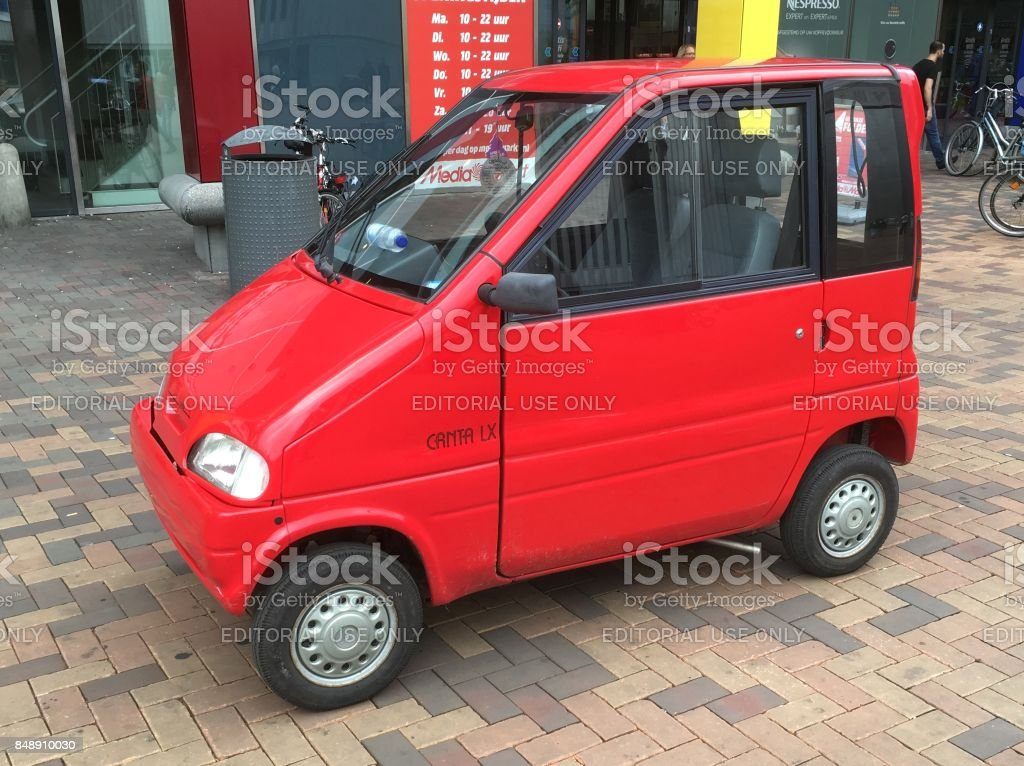 Red Canta lx disabled car stock photo