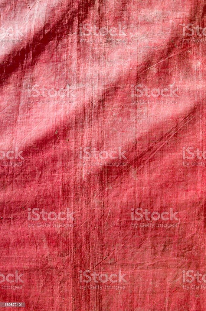Red canvas texture tarp stock photo